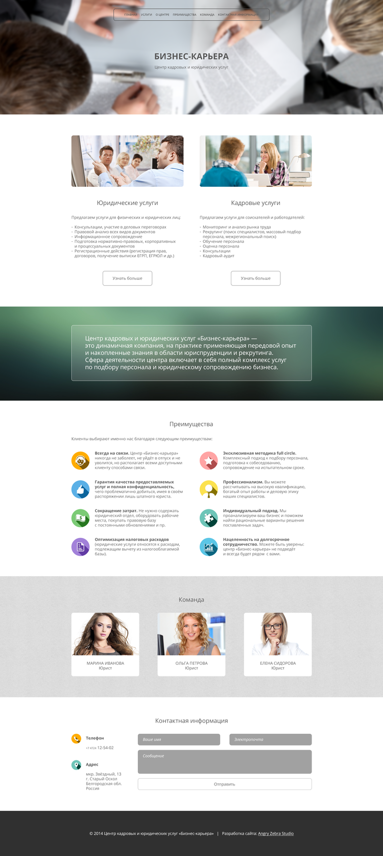 Business-Career - Main page layout